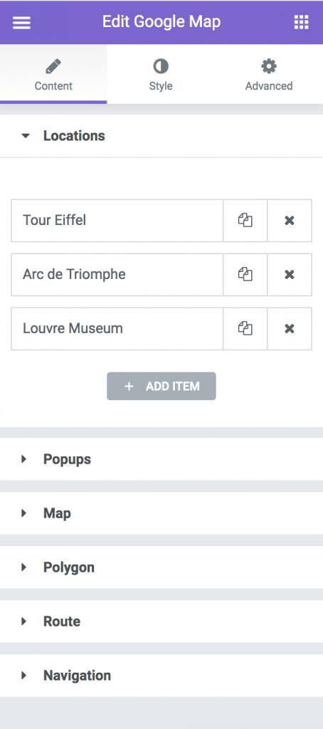 Google Map Addon for Elementor — Namogo Shop